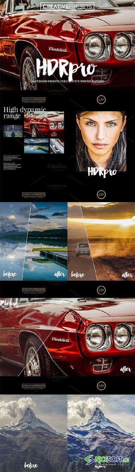 10 HDR PRO - Lightroom Presets - Creativemarket 327185
