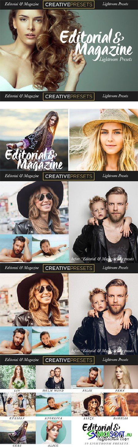 Editorial-Magazine Lightroom Presets - Creativemarket 328818