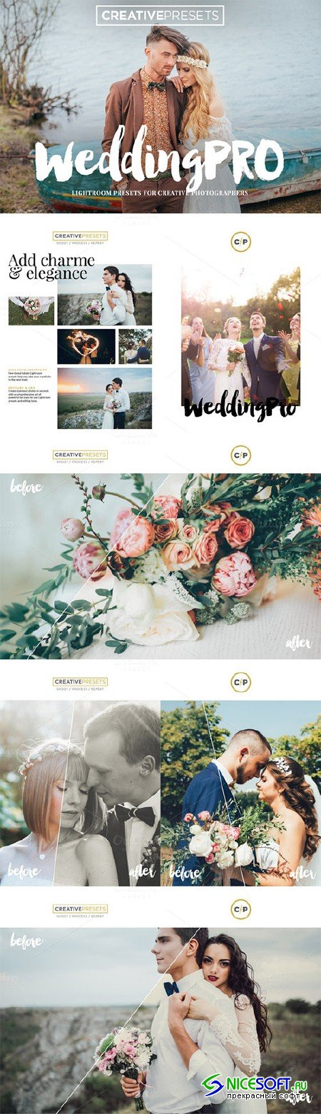Wedding Pro 10 Lightroom Presets - Creativemarket 317766