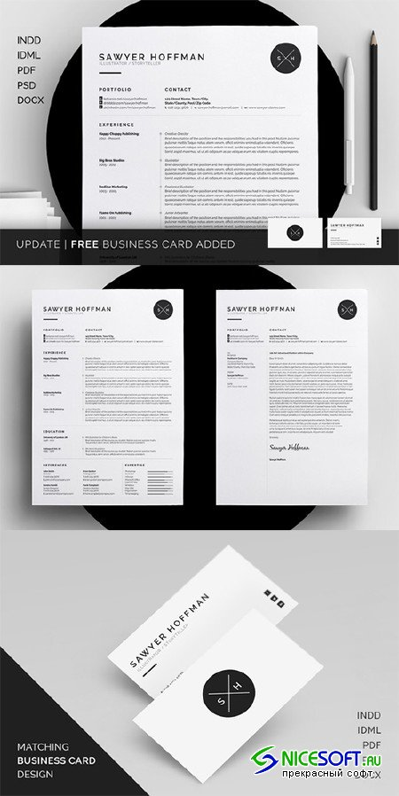 Resume/CV - Sawyer - Creativemarket 213836