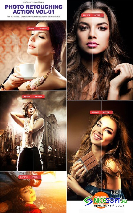Photo Retouching Photoshop Action Vol-01 - GraphicRiver 10841230