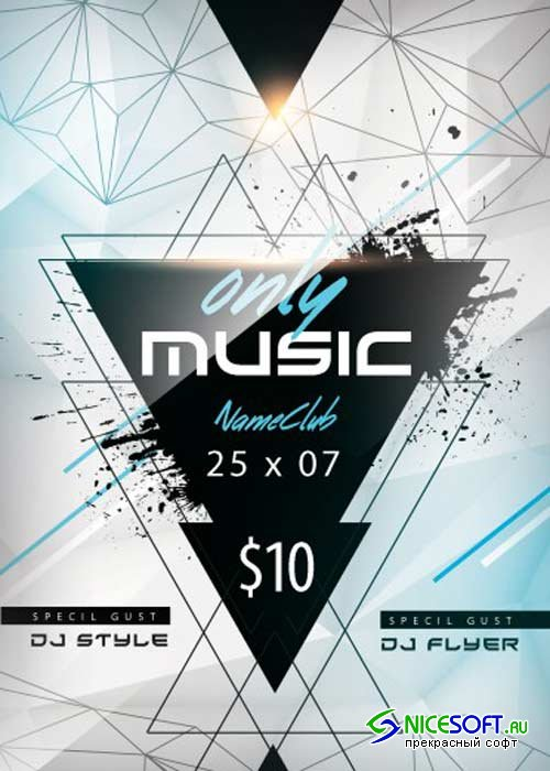 Only Music V1 PSD Flyer Template