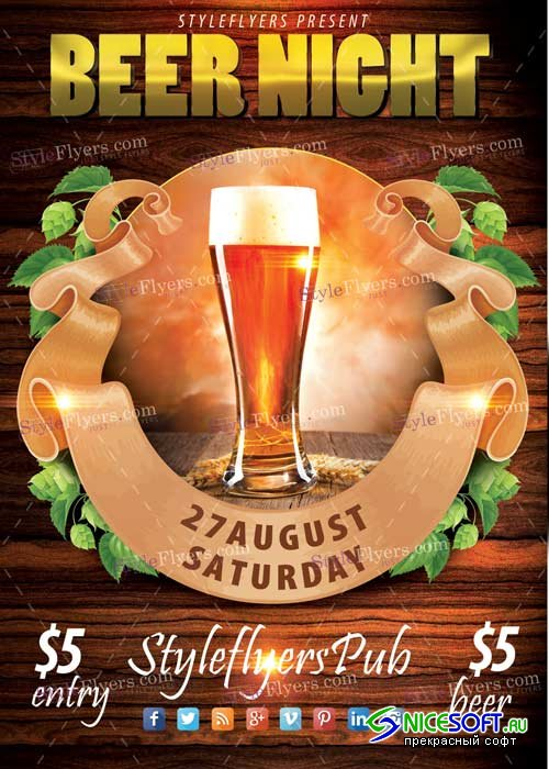 Beer Night V7 PSD Flyer Template