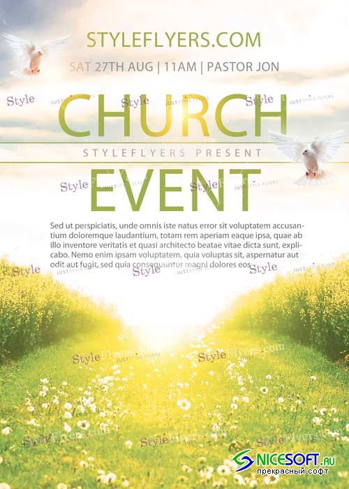 Church Event PSD V2 Flyer Template