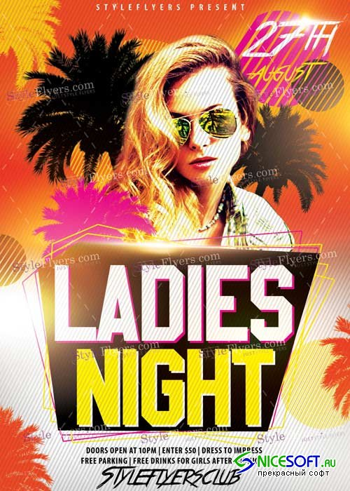 Ladies Nights V16 PSD Flyer Template