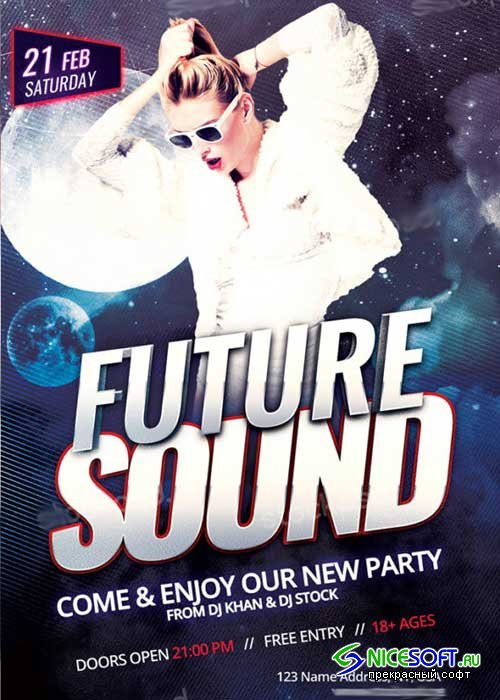 Future Sound Party V11 PSD Flyer Template