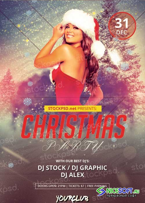 Christmas Party V12 PSD Flyer