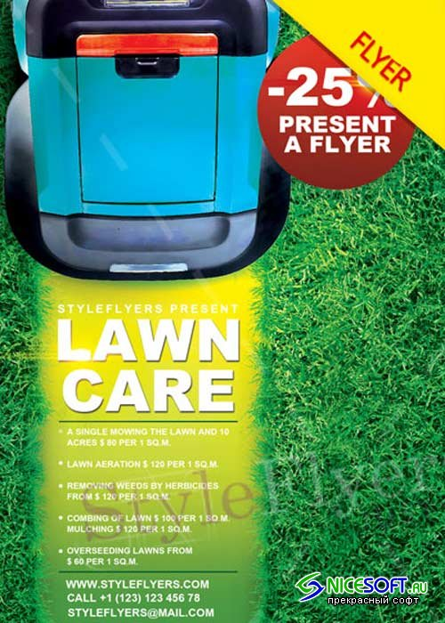 Lawn Care PSD V6 Flyer Template