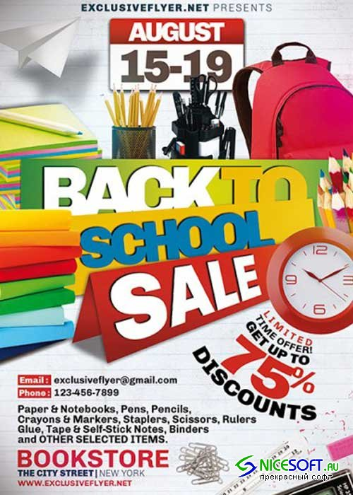 Back to School Sale V1 Premium Flyer Template