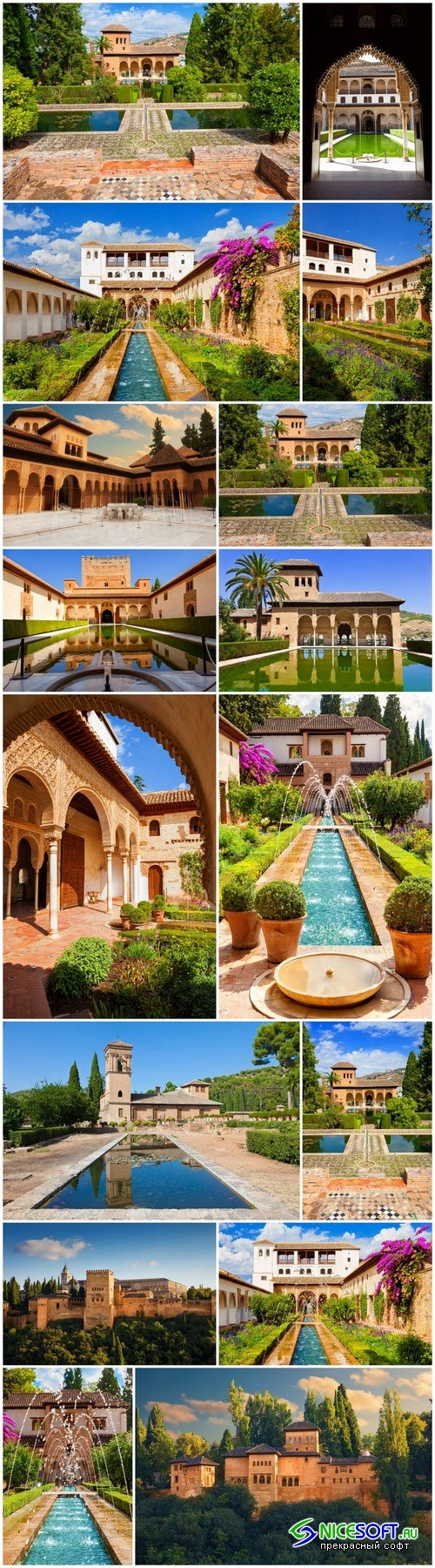 Beauty of Alhambra de Granada - 16xUHQ JPEG Photo Stock