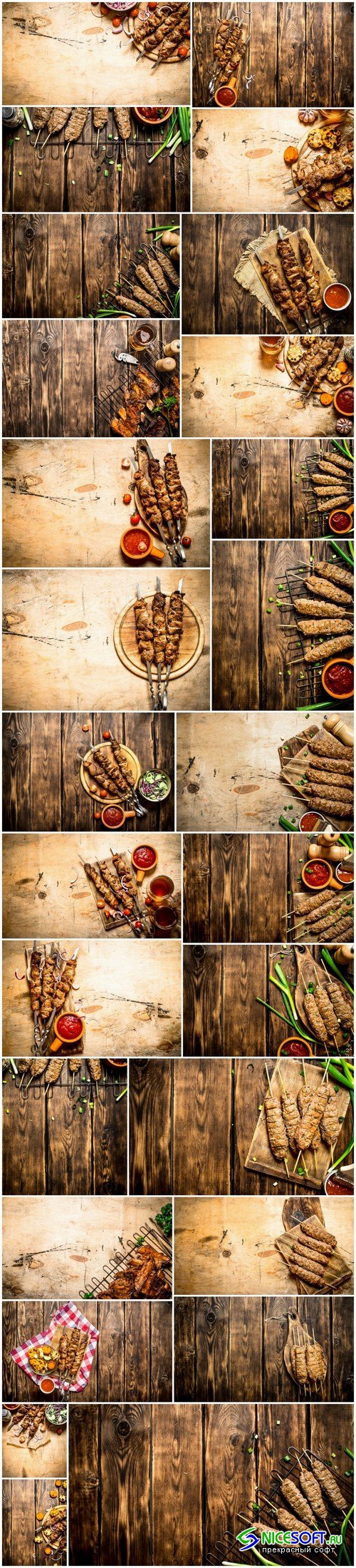 Kebab and garnish - 27xUHQ JPEG Photo Stock