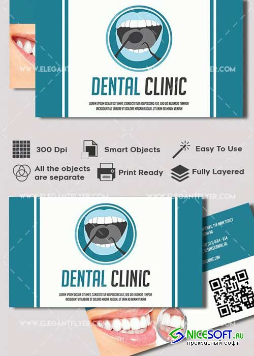 Dental Premium Business card PSD V2 Template