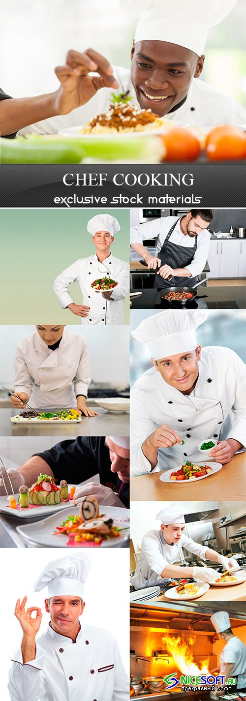 Chef cooking - 9UHQ JPEG