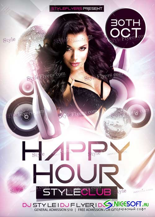 Happy Hour PSD V11 Flyer Template