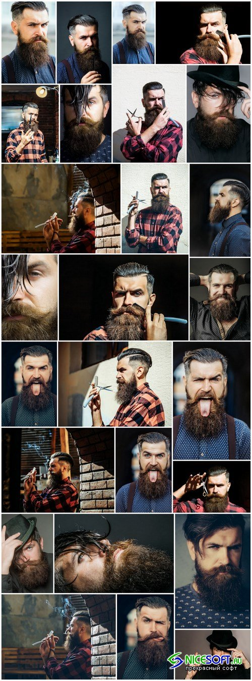 Man with Beard, Brutal Style, Hipster 2 - 26xUHQ JPEG Photo Stock