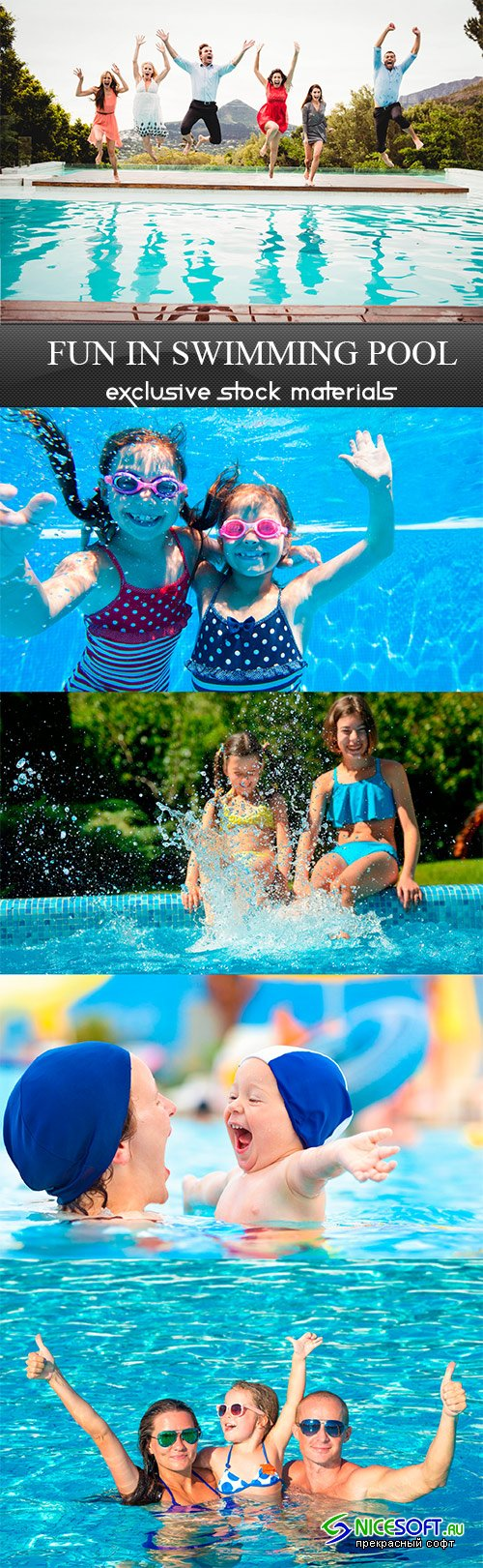 Fun in swimming pool - 5UHQ JPEG