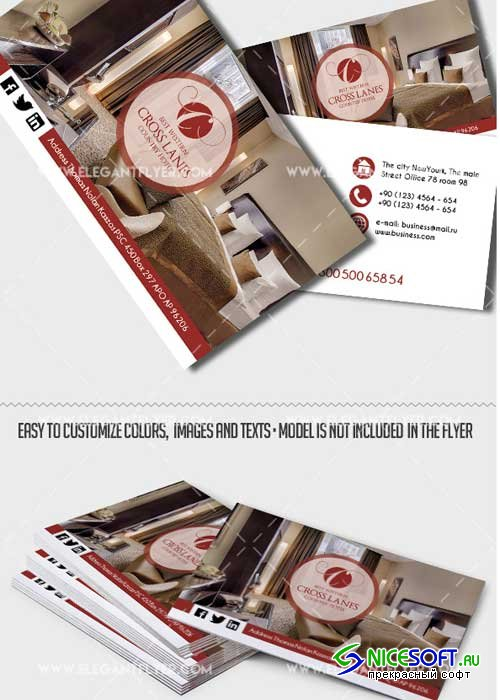 Hotel Premium Business card PSD V2 Template
