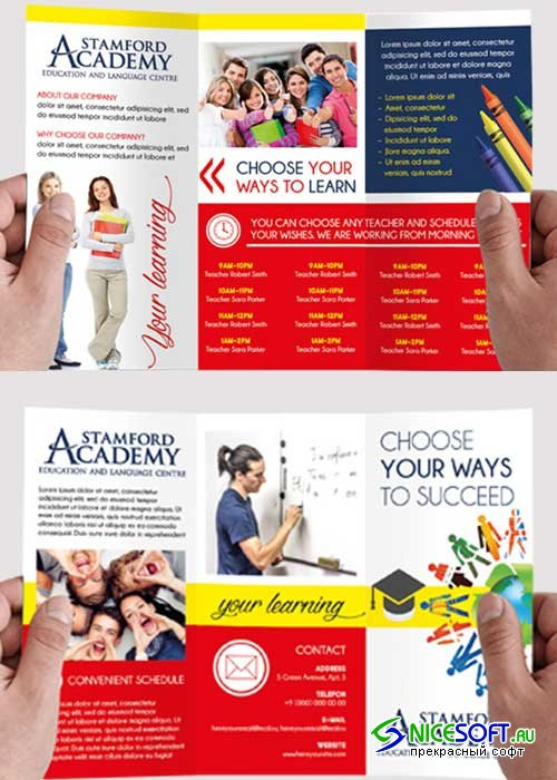 Languages Course Tri-Fold PSD V1 Template