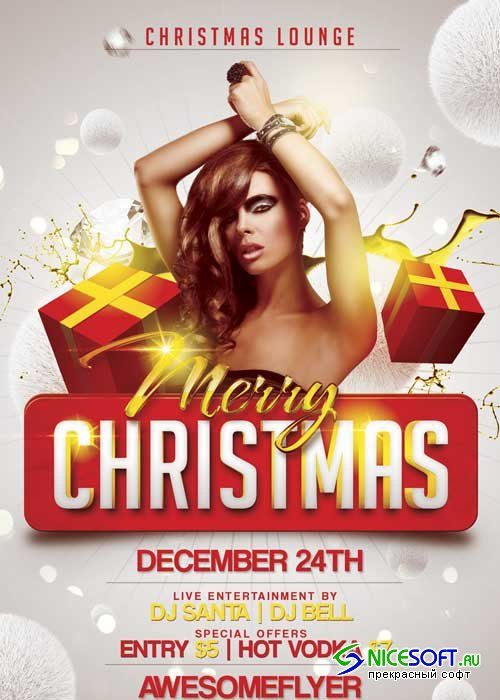 Merry Xmas Flyer V25 Template