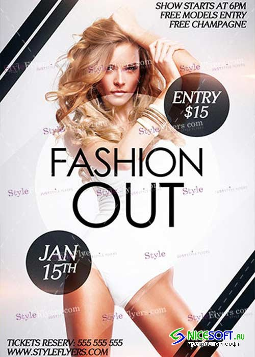 Fashion Out PSD V6 Flyer Template