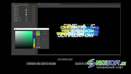 Cinematic Glitch Titles After Effects Templates
