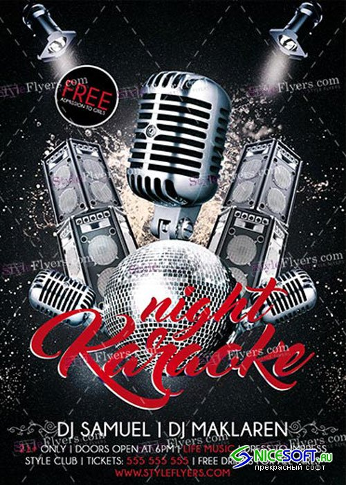 Karaoke Night PSD V14 Flyer Template