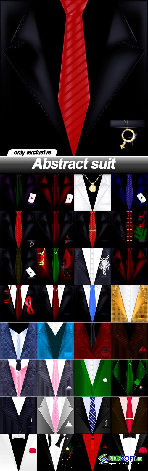 Abstract suit