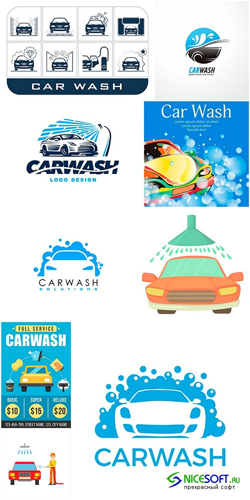 Car wash - set 1 - 9EPS