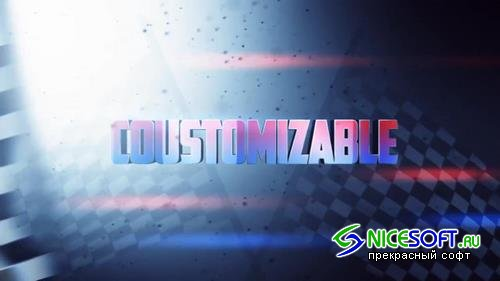 Race Zone Title Design After Effects Templates