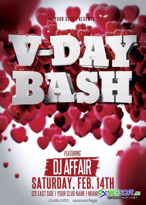 Valentine's Day Party V38 Flyer Template