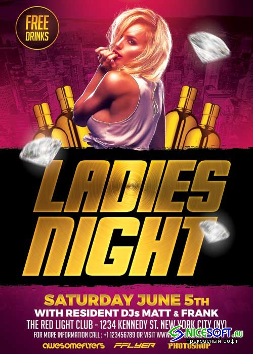 Ladies Night V41 Flyer Template