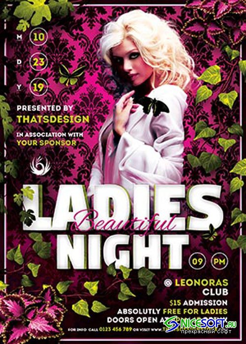 Beautiful Ladies Night Flyer V5 Template