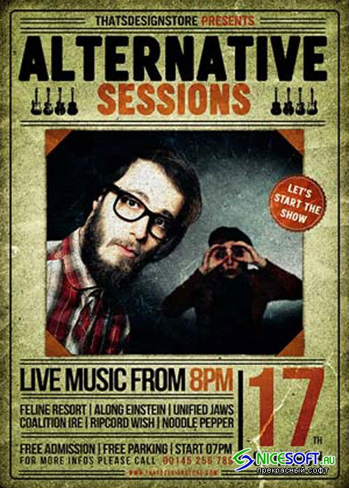 Alternative sessions Flyer V8 Template