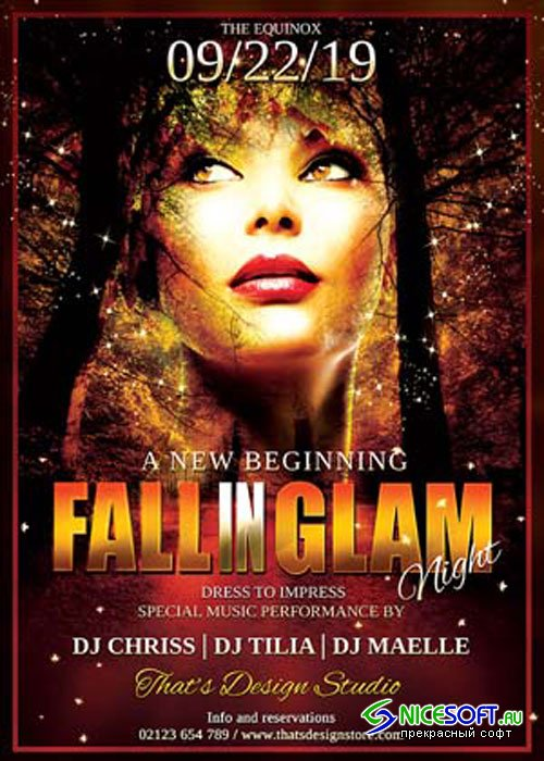 Fall in Glam Flyer Template V3