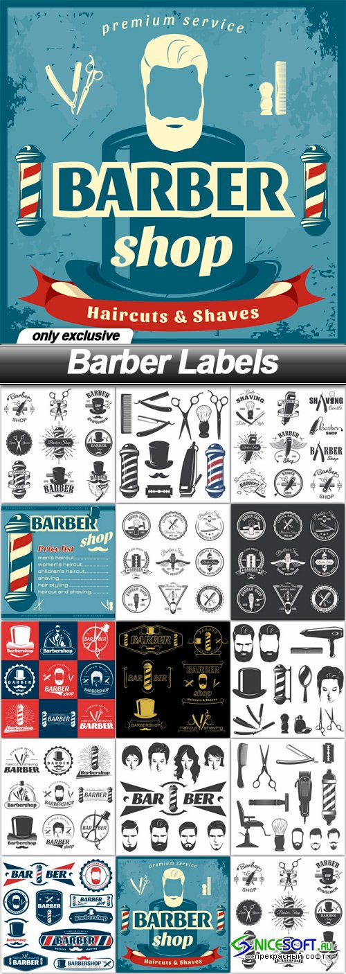 Barber Labels