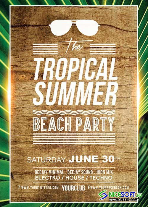 Tropical Summer V10 Flyer Template