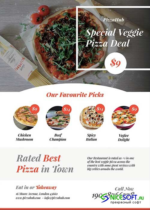 Pizza Flyer V19 Template PSD