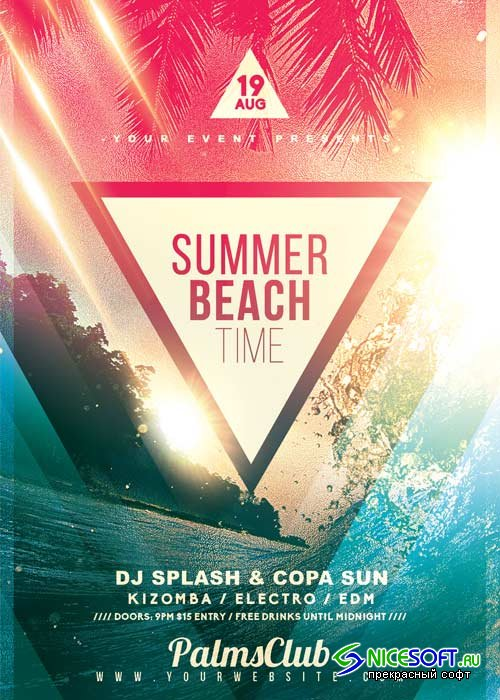 Summer Beach Time  V22 Flyer Template