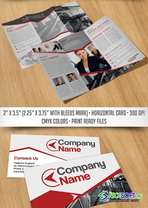 Business Corporate Tri-Fold Brochure V8 PSD Template