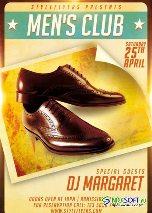 Men's Club V12 PSD Flyer Template