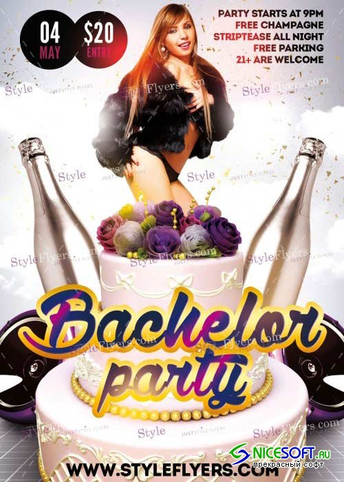 Bachelor Party V8 PSD Flyer Template