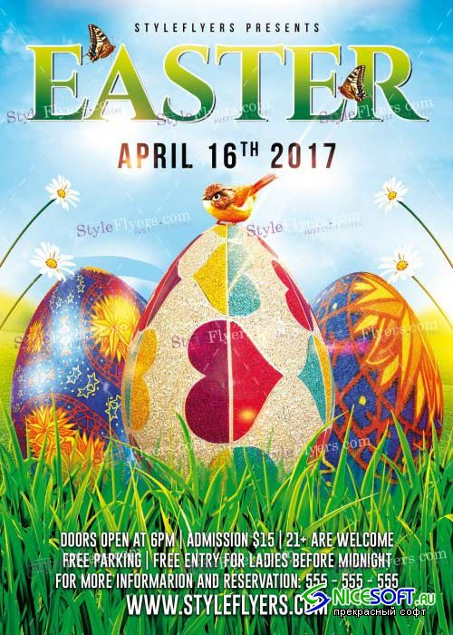 Easter V27 PSD Flyer Template