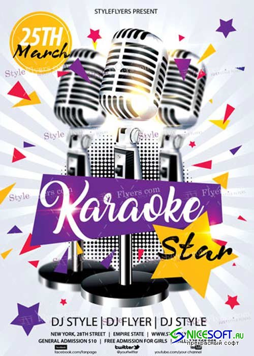 Karaoke Star V11 PSD Flyer Template