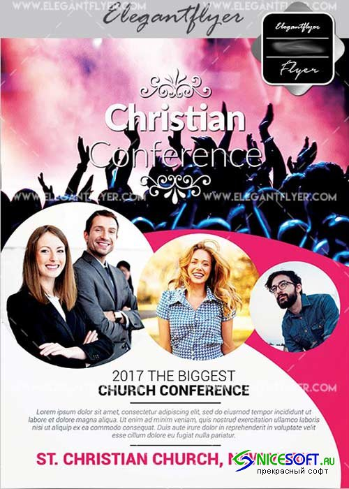 Christian Conference benammimia V6 Flyer PSD Template + Facebook Cover