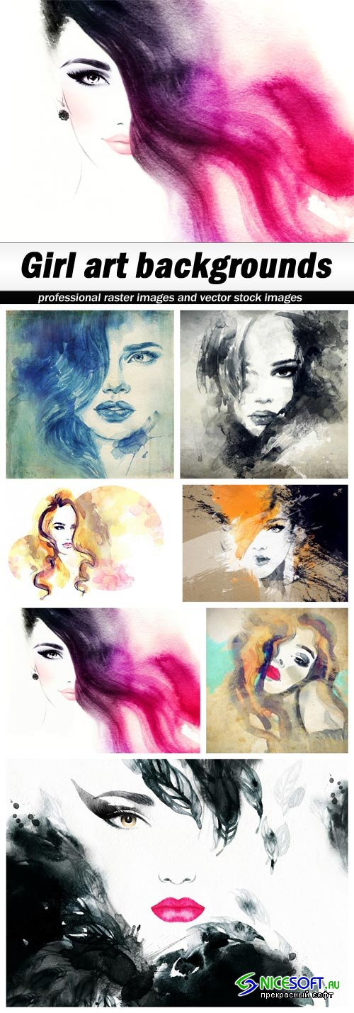 Girl art backgrounds - 7 UHQ JPEG