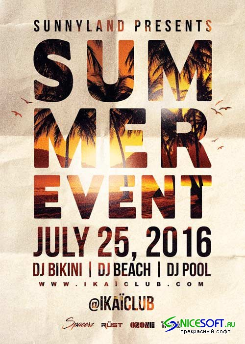Summer Beach  Event V14 Flyer Template