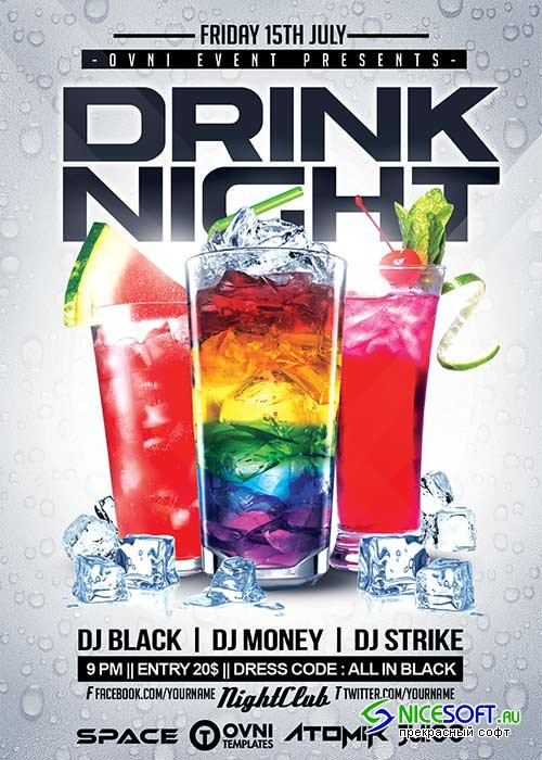 DRINK NIGHT V30 Flyer Template