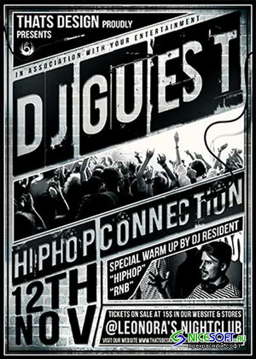 Dj Guest V12 Flyer Template