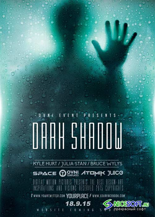Dark Shadow V5 Flyer Template