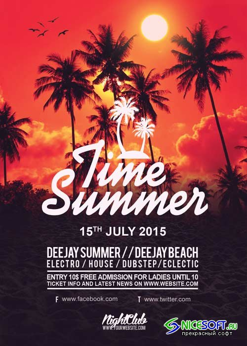 Time Summer V20 Flyer Template